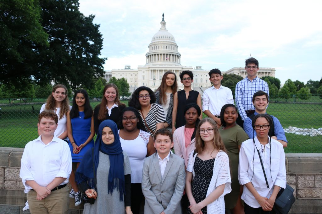Our 2018 Teen Ambassadors in Washington D.C.