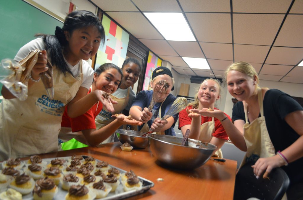 Teen Chefs showing off their baking skills at Camp Delicious! 2019