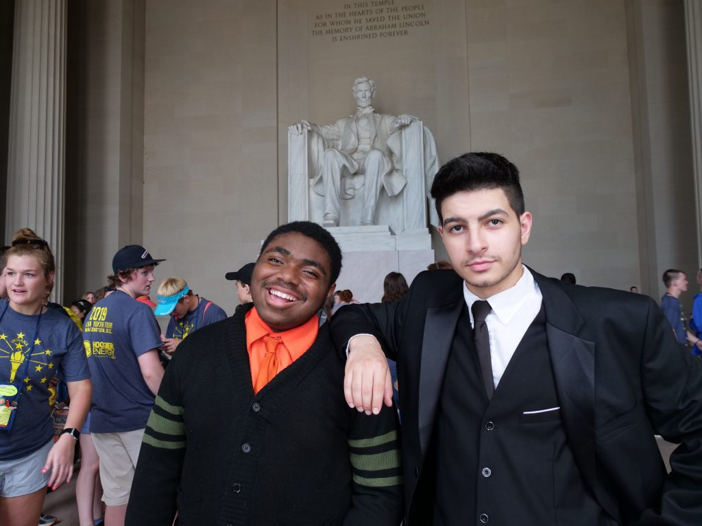 Teen Ambassadors visit the Lincoln Memorial in Washington DC