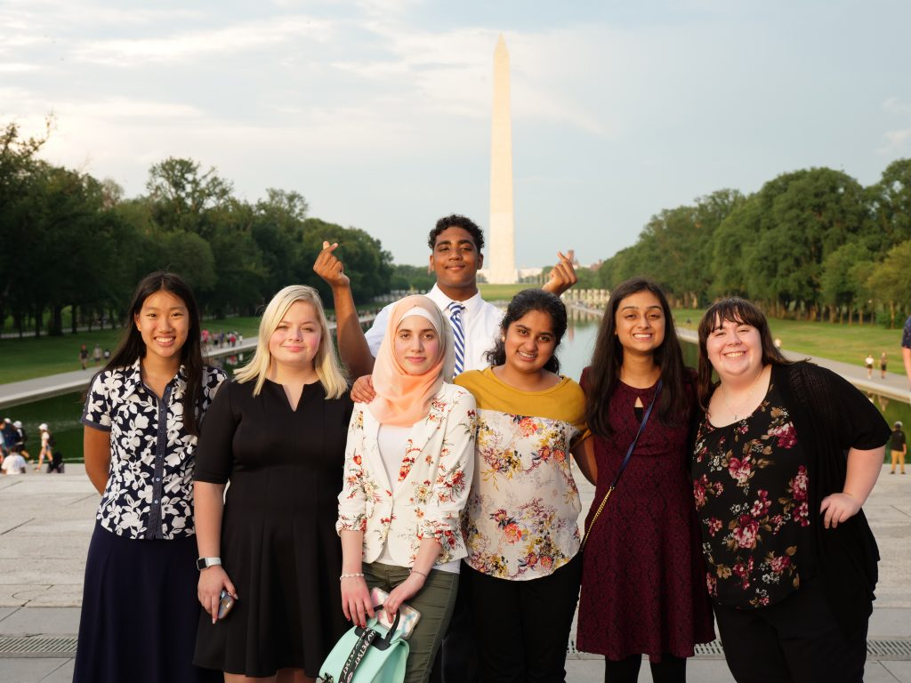 Teen Ambassadors on the National Mall