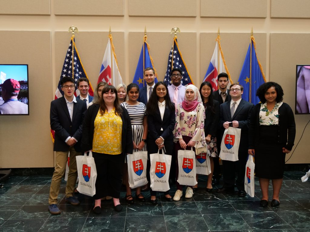 Teen Ambassadors talked with officials from the Embassy of the Slovak Republic