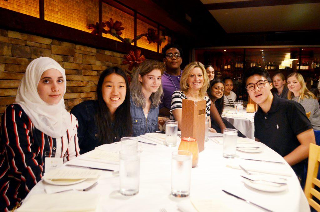 2019 Teen Ambassadors enjoying lunch at the Casbah