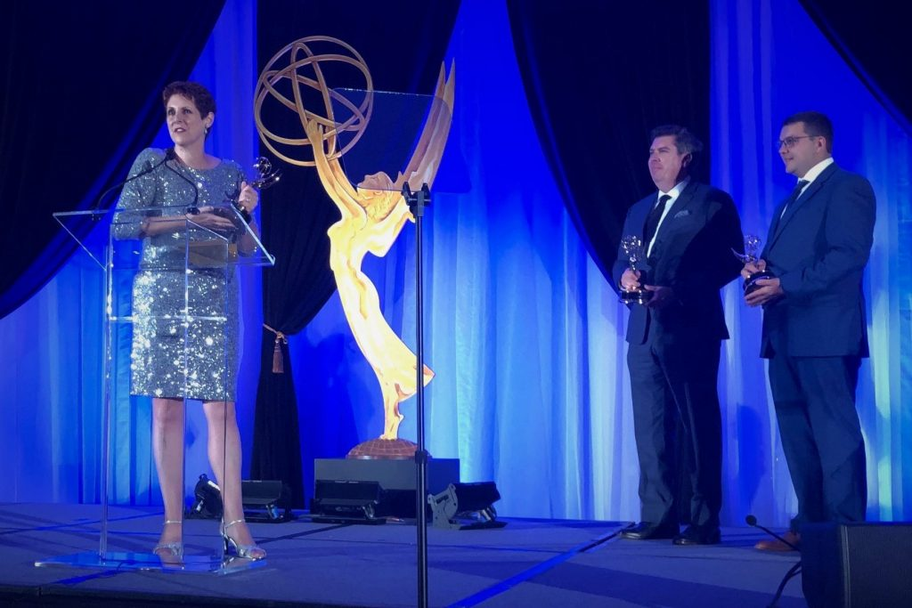 GINA accepting Emmy