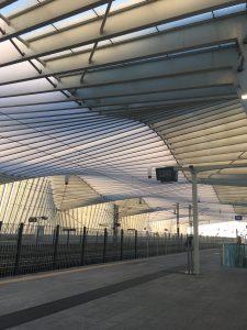 Empty train station in Reggio.