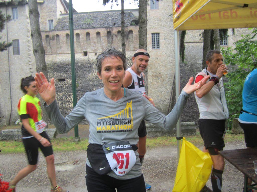 Mary Jean Bujdos runs Italy Felino race