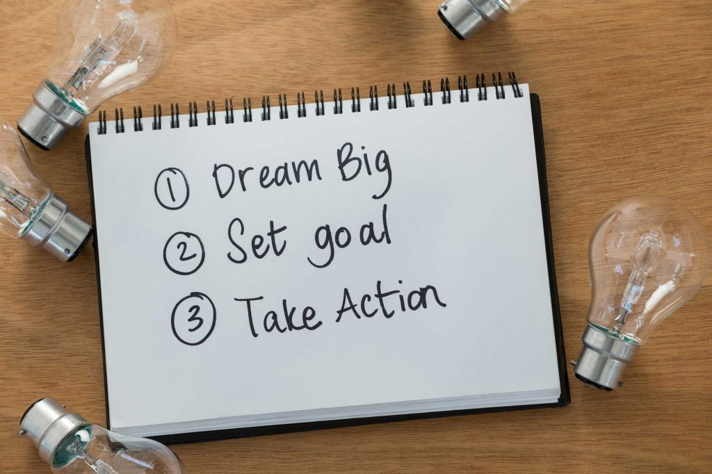 Turn dreams and goals into action