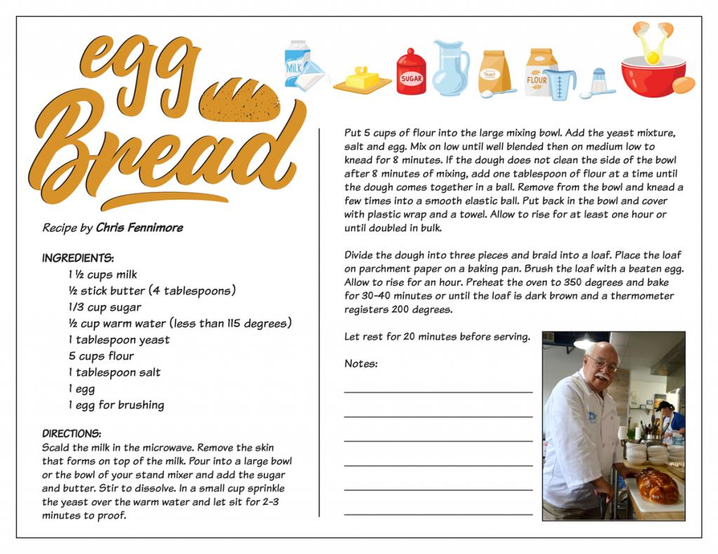 Chris Fennimore: Egg Bread Recipe